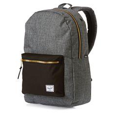 Herschel Backpacks - Herschel Settlement Backpack - Charcoal Crosshatch/black