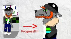 Red  Property of WOLFIEthePartyAnimalGamer  Then and now