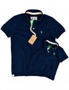 d3f2aadc18 Kit Camisa Polo Tal Pai Tal Filho Pate Colorido