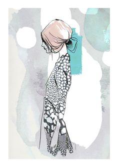 Sophie, Fashion Illustration Kerstin Kubalek