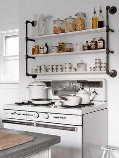 Colocar menaje de cocina a la vista