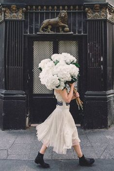 Going Places - Hydrangea Paris Spring in Paris, White Hydrangea bouquet in the arrondissement. Fine art limited edition of Young Girl in Bloom by Carla Coulson My Flower, Beautiful Flowers, Cactus E Suculentas, Arte Floral, Planting Flowers, Flowers Garden, Floral Arrangements, Art Photography, Colourful Photography