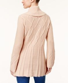 Style & Co Petite Cowl-Neck Tunic Sweater, Created for Macy's - Purple P/XS