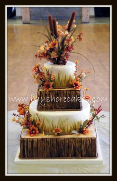 """@Angela Allen the colors may not be great, but I thought you'd appreciate the """"wood"""" cake. :]"""