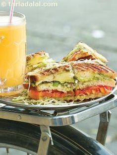Vegetable Grill Sandwich by Tarla Dalal