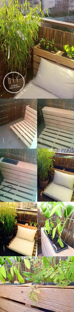 balcony lounge small palette  outdoor chill out