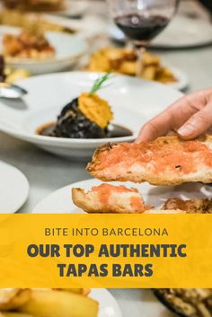 Enjoy some of the best and most authentic tapas bars in Barcelona with our great guide on some of our favorite places! From old school gems to top-class tapas! There is definitely something for everyone's tastes! Spanish Cuisine, Spanish Food, Tomato Bread, Tapas Dishes, Tapas Bar, Tasty, Yummy Food, Best Places To Eat, Foodie Travel