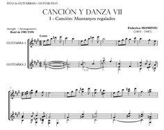 MOMPOU. Guitar duo arrangement. Song and Dance nº 7 http://www.guitarraul.com/p/124/cancin-y-danza-vii-mompou Concert work. Difficult level.