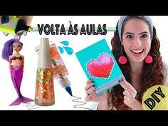 DIYs VOLTA ÀS AULAS: CANETA ESMALTE, CADERNO LÍQUIDO, etc... | Paula Stephânia - YouTube