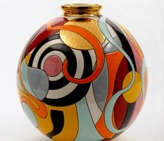Cygal Art Deco is the exclusive dealer of Longwy in the USA. Please visit our Los Angeles showroom to see our wide array of Longwy vases, boxes and plates. Porcelain Jewelry, Porcelain Ceramics, Ceramic Vase, Ceramic Pottery, Pottery Art, Fine Porcelain, Porcelain Tiles, Bottle Painting, Bottle Art