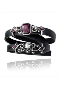 Alchemy Gothic - Leder Wickelarmband - Pirate Princess