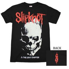 Officially licensed Slipknot t-shirt featuring the slipknot logo and skull print on the front of a 100% cotton, men's standard fit t-shirt. In addition to the cool front print, the shirt also has a sm