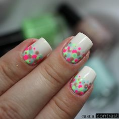 Paint All The Nails presents Dotticures • Casual Contrast