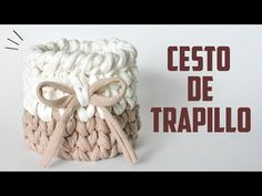 CESTO DE TRAPILLO CON UNION PERFECTA | Danii's Ways ♡ - YouTube Crochet Fabric, Crochet Patterns, Crochet Video, Knitting Videos, T Shirt Yarn, Burlap Wreath, Diy Gifts, Macrame, Diy And Crafts
