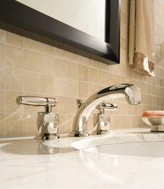 MIchael Berman American Moderne Graceline | Zephyr Lavatory Faucet  #modern #modernbathroom #designinspiration #polished