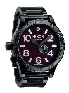 Nixon's Dark Wood & Black Collection of Watches for Men