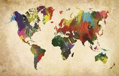 Print Big Australia - Vintage World Map Canvas(http://printbig.mybigcommerce.com/vintage-world-map/)