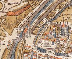 Plan de Paris vers 1550 Porte du Temple et Maison du Temple. Difficile à voir (digicodes des deux côtés), au 73 rue Charlot Paris 75003 entrée également par le 32 rue de Picardie subsiste le vestige d'une tour édifiée vers 1240 qui se trouvait à l'angle est du mur d'enceinte de l'enclos des Templiers.