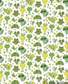 Green Acres Pattern Collection by Linda Solovic, via Behance