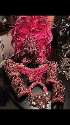 Samba Costume Bikini and Feather Set Halloween Brazilian Carnaval Carnival