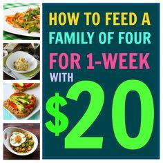 It's possible to feed a family of four on just $20 a week, and I'm gonna show you how.