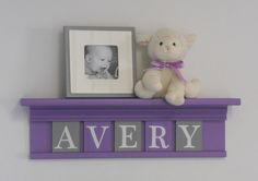 Purple Nursery Decoration Purple and Gray Wall by NelsonsGifts, $35.00