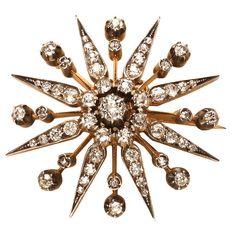 Diamond Star Pendant/Brooch  England c.1870