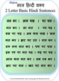 Learn to Read Hindi for Kids.Learn to read 2 & 3 Letter Hindi Word Sentences. Basic Hindi words and word formation without Matras made very easy for kids and beginners. Worksheets For Class 1, Hindi Worksheets, English Worksheets For Kids, Kindergarten Worksheets, Addition Worksheets, Math Addition, Kindergarten Reading, Hindi Alphabet, Alphabet Words