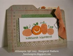 Fun Stampin' with Margaret!: Envelope Punch Board, New Hostess Code & Halloween Happiness File Folder Card!