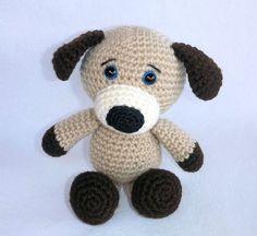 Amigurumi Puppy Crochet Puppy Stuffed Toy Dog by MWHandicrafts
