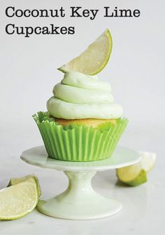 Coconut Key Lime Cupcakes are a fun way to celebrate summer. This dessert is sweet for kids and adults.