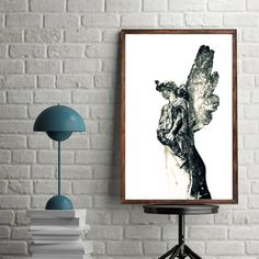 Guardian Angel, Downloadable Art, Printable, Wall Art, Digital Download,Instant Downloadble, Colorful Print by LittleOwlArtHouse on Etsy