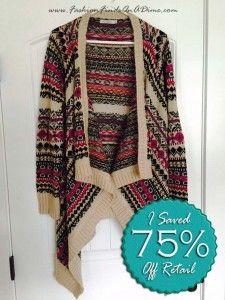Hazel Taupe Aztec Sweater - November Find #3