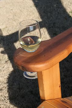Adirondack Chair Wine Gl Holder Feature Lawn Furniture Outdoor Chairs Pergola