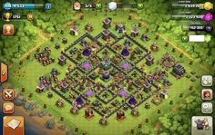 Combinating 4 mortars perfectly TH9 farming base | Gamatrix