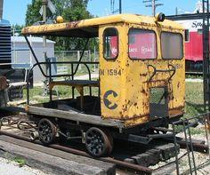 A former Chessie System speeder at the Linden Railroad Museum, Linden, Indiana