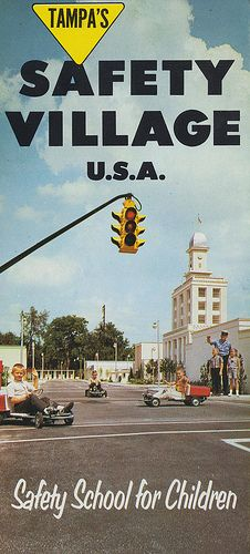 Safety Village, U. was the City of Tampa's 1965 Christmas present to the Children of Tampa. Tampa Florida, Old Florida, Local Attractions, Fire Safety, Water Tower, Fairy Land, Stunning View, Worlds Largest, Park