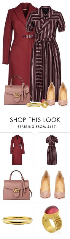 """""""Climbing the corporate ladder"""" by stephanielee4 ❤ liked on Polyvore featuring Christopher Kane, Burberry, Gucci and Christian Louboutin"""