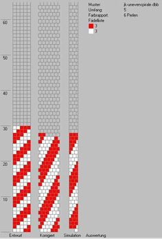 Simple tubular bead crochet diagram.