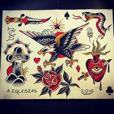 Pin by frankie sousa on tattoo тату Tattoo Flash Sheet, Tattoo Flash Art, American Style Tattoo, Tattoo Tradicional, Animal Cartoon Video, Old School Tattoo Designs, Traditional Tattoo Design, Mask Tattoo, Tatuagem Old School