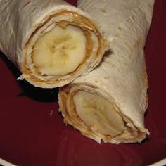 Banana Tortilla Snacks. use pb2 low carb tortilla, leave off honey, and use only one handful or two of raisins to lower the calories and points :)