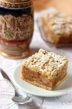 Szarlotka tatrzanska Polish Desserts, Polish Recipes, Sweet Recipes, Cake Recipes, European Dishes, Food Cakes, Homemade Cakes, Cake Cookies, Baked Goods