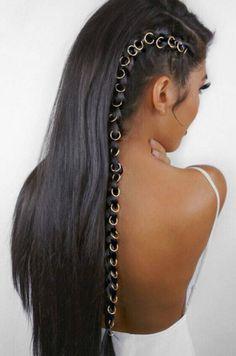 Beaded hair rings