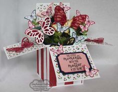 Stampin' Up! card in a box, Watercolor Wings, Papillon Potpourri