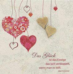 Hochteitswünsche und Zitate Karte mit Herzen