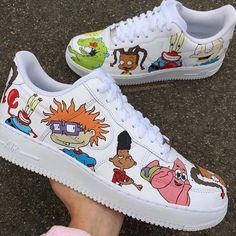 Custom Sneaker by customsbyleanne White Nike Shoes, Nike Air Shoes, Air Force One Shoes, Nike Air Force, Air Force Sneakers, Custom Painted Shoes, Custom Shoes, Sneaker Plug, Tenis Nike Air