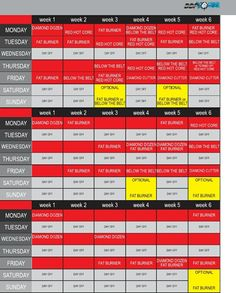 image regarding Ddp Yoga Schedule Printable known as Ddp Yoga Exercise session Calendar