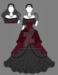 Rose Dress Adopt 2 - CLOSED by LucaLouise.deviantart.com on @DeviantArt