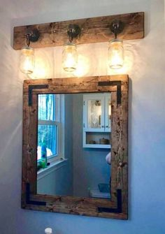 Rustic Full Bathroom Set Handmade Bathroom Decor Mirror