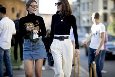 Trends: high-waisted pants are spring-summer 2018 must-have